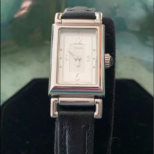 Authentic COACH Swiss Watch Black Leather